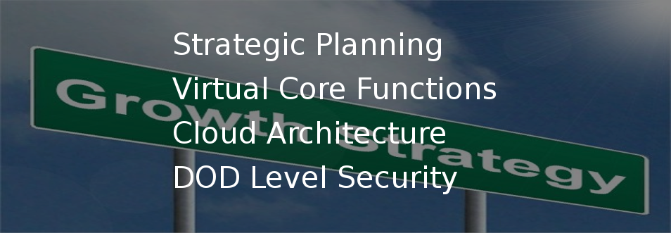 Strategic Planning, Virtual Core Functions, Cloud Architecture, DOD Level Security