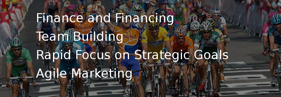 Finance and Financing, Team Building, Rapid Focus on Strategic Goals, Agile Marketing